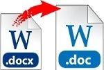 онлайн конвертер DOCX в DOC бесплатно